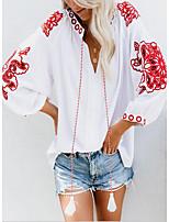 cheap -Women's Daily Blouse - Geometric White