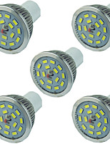 cheap -5pcs 5 W LED Spotlight 400 lm GU10 15 LED Beads SMD 5730 Dimmable Warm White White 220-240 V