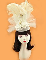 cheap -Artificial feather Fascinators with Feather 1 Piece Wedding Headpiece