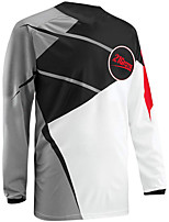 cheap -21Grams Men's Long Sleeve Cycling Jersey Downhill Jersey Dirt Bike Jersey 100% Polyester Black / Red Black / Yellow Purple Stripes Bike Jersey Top Mountain Bike MTB Road Bike Cycling UV Resistant