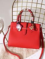 Недорогие -Девочки PU Сумка с верхней ручкой Сплошной цвет Розовый / Красный / Хаки