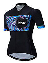 cheap -21Grams Women's Short Sleeve Cycling Jersey 100% Polyester Black / Blue Bike Jersey Top Mountain Bike MTB Road Bike Cycling UV Resistant Breathable Quick Dry Sports Clothing Apparel / Stretchy