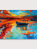 cheap -IARTS®Hand Painted Sunset glow Oil Painting   with Stretched Frame For Home Decoration