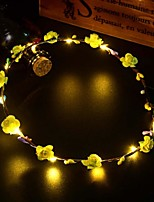 cheap -10pcs  Glowing Garland  /LED String Light/ Glowing Vine Headdress /Shooting Decorative Props/Wedding Party Wreath/Atmosphere Light/Portable Prop Light/Night Light/Plant-Like Light/ Outdoor