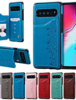 cheap -Case For Samsung Galaxy S9 / S9 Plus / S10 /S10E/S10 5G/S10Plus Card Holder / Shockproof / Pattern Back Cover Cartoon PU Leather