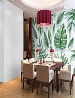 cheap -Customized Self Adhesive Mural Wallpaper Green Leaves Suitable For Bedroom Living Room Coffee Shop Restaurant Hotel Wall Decoration Art Room Wallcovering