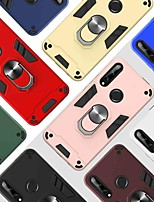 cheap -Case For Huawei Huawei P20 lite / Huawei P30 Lite / Huawei Honor 8A 360° Rotation / Shockproof / Ring Holder Back Cover Solid Colored TPU / PC