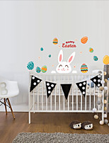 cheap -Easter bunny egg Decorative Wall Stickers - Plane Wall Stickers Holiday Indoor
