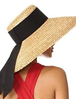 cheap -Straw Hats with Split Joint 1 Piece Wedding Headpiece