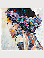 cheap -Hand Painted Canvas Oilpainting Abstract People by Knife Home Decoration with Frame Painting Ready to Hang