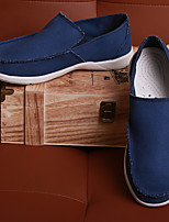 cheap -Men's Canvas Spring & Summer / Fall & Winter Sporty / British Loafers & Slip-Ons Walking Shoes Breathable Dark Blue / Light Blue / Khaki