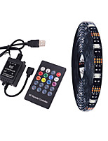 cheap -4m TV Background Light Strip Flexible LED Light Strips  RGB Strip Lights 120 LEDs SMD5050 10mm 1 24Keys Remote Controller 1 set Multi Color Waterproof / USB / Self-adhesive 5 V