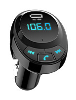 cheap -BT09 Car FM Transmitter Bluetooth 5.0 Car Mp3 Player Wireless Audio Adapter Car Charger with USB-C PD18W 3.1A Battery Voltage Adapter Car Wireless Bluetooth Kit