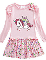 cheap -Kids Girls' Cartoon Dress Blushing Pink