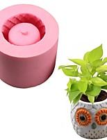 cheap -1pcs Succulent Owl Silicone Flower Pot Cake Diy Flower Pot Mold