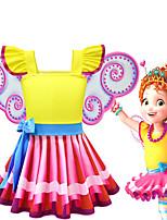 cheap -Fancy Nancy Dress Cosplay Costume Girls' Movie Cosplay Cosplay Costume Party Yellow Dress Polyster