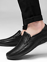 cheap -Men's Leather Spring & Summer / Fall & Winter Business / Casual Loafers & Slip-Ons Walking Shoes Breathable Black / Light Brown / Dark Brown