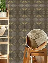 cheap -3D Wood Grain Pattern Tile Floor Sticker PVC Bathroom Kitchen Waterproof Wall Sticker Home Decor TV Sofa Wall Art Mural