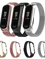 cheap -Watch Band for Mi Band 3 / Xiaomi Mi Band 4 Xiaomi Milanese Loop Stainless Steel Wrist Strap