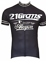 cheap -21Grams Men's Short Sleeve Cycling Jersey 100% Polyester Black / White Bird Bike Jersey Top Mountain Bike MTB Road Bike Cycling UV Resistant Breathable Quick Dry Sports Clothing Apparel / Stretchy