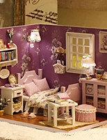 cheap -Dollhouse LED Light DIY Parent-Child Interaction Furniture Wooden 3 pcs Child's Adults' All Toy Gift