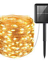 cheap -Solar Copper Wire Light String Lights Christmas Day Wedding Decoration Lights