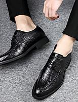 cheap -Men's PU Spring & Summer Business Oxfords Wear Proof Black / Brown