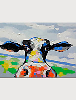 cheap -Hand Painted Canvas Oilpainting Abstract Cow by Knife Home Decoration with Frame Painting Ready to Hang