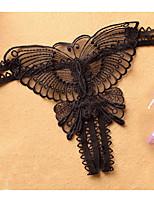 cheap -Women's Lace G-strings & Thongs Panties Low Waist Black White Purple One-Size