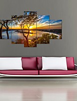 cheap -5 Panels Modern Canvas Prints Painting Home Decor Artwork Pictures DecorPrint Rolled  Stretched  Modern Art Prints Landscape