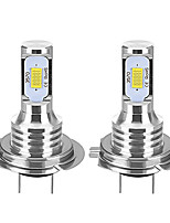 cheap -2pcs H7 80W Canbus LED Car Headlight Bulbs Auto Lights Automobile Driving Fog Lamp 2leds SMD3570 CSP Fog Light