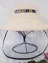 cheap -Women's Basic Polyester Sun Hat-Solid Colored Khaki