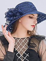cheap -Vintage Style Fashion Tulle / Lace Hats / Headwear with Lace / Flower / Trim 1 Piece Wedding / Outdoor Headpiece