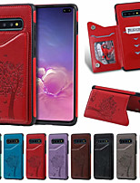 cheap -Case For Samsung Galaxy S9/S9P/S10/S10P/S10E/S10 5G Card Holder / Shockproof /  Cartoon PU Leather