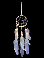 cheap -Wind Chimes Handmade Indian Dream Catcher Net With Feathers 55 cm Wall Hanging Dream catcher