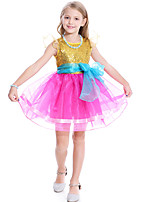 cheap -Fancy Nancy Dress Cosplay Costume Girls' Movie Cosplay Cosplay Costume Party Yellow / Blue Dress Tulle Sequin Polyster