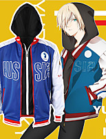 cheap -Inspired by Yuri!!! on ICE Cosplay Anime Cosplay Costumes Japanese Cosplay Hoodies Coat For Men's