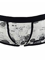 cheap -Men's Lace Boxers Underwear - Normal Low Waist Black Purple Orange M L XL