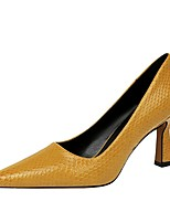 cheap -Women's Heels Chunky Heel Pointed Toe PU Summer Black / Camel / Nude
