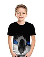 cheap -Kids Boys' Basic 3D Short Sleeve Tee Rainbow