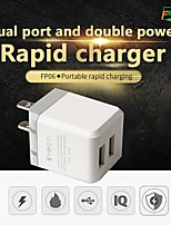 cheap -FIXST 12 W Fast Charger USB Charger Universal Charger Kit 1 USB Port 2 A 110~220 V for Universal