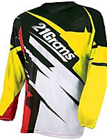 cheap -21Grams Men's Long Sleeve Cycling Jersey Downhill Jersey Dirt Bike Jersey 100% Polyester Bule / Black Blue+Silver Black / Yellow Stripes Bike Jersey Top Mountain Bike MTB Road Bike Cycling UV
