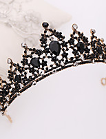 cheap -Women's Hair Jewelry For Wedding Engagement Birthday Party Wedding Birthday Geometrical Crystal Alloy Black 1 pc