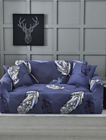 cheap -Purple Leaves Print Dustproof All-powerful Slipcovers Stretch Sofa Cover Super Soft Fabric Couch Cover with One Free Pillow Case