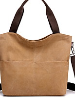 cheap -Women's Zipper Canvas Top Handle Bag Solid Color Dark Brown / Blue / Black