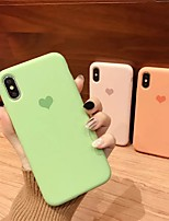 cheap -Case For Apple iPhone 11 / iPhone 11 Pro / iPhone 11 Pro Max Shockproof Back Cover Heart / Solid Colored TPU