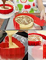 cheap -set of 4 pcs Silicone Cake Four-Piece Combination Baking Cake Mold