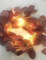 cheap -2M 20Led Artificial Eucalyptus Leaf Fairy String Garland Plant Vine Fake Foliage Flower Home Decor Lighting Artificial Lamp  come without battery)