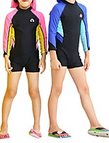 cheap -Boys' Girls' Rash Guard Dive Skin Suit Top Bottoms Breathable Long Sleeve Swimming Diving Water Sports Patchwork Spring Summer / Kid's