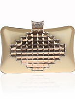 cheap -Women's Crystals / Chain Polyester Evening Bag Color Block Black / Purple / Gold